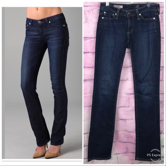 Ag Adriano Goldschmied Denim - Ag Jeans The Ballad Slim Boot Dark Wash Size 24R
